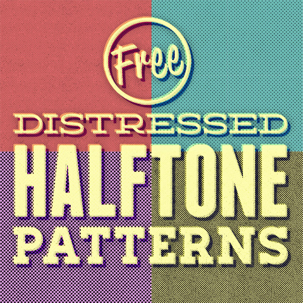 Free Distressed Halftone Patterns