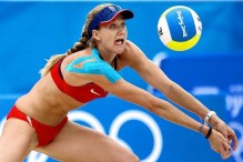 Beach Volleyball Olympian Kerri Walsh Kinesio Tape