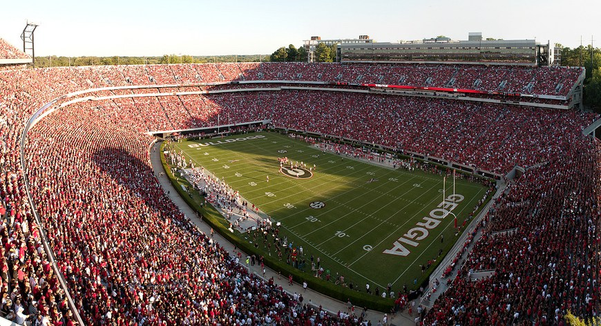 Sanford Stadium. Photo by ikwildrpepper