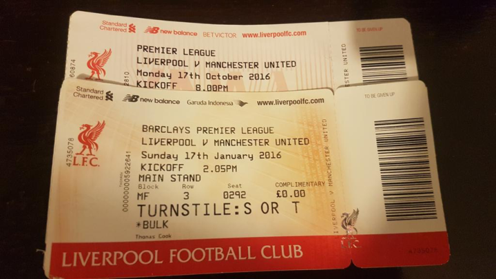 Liverpool vs Manchester United EPL tickets