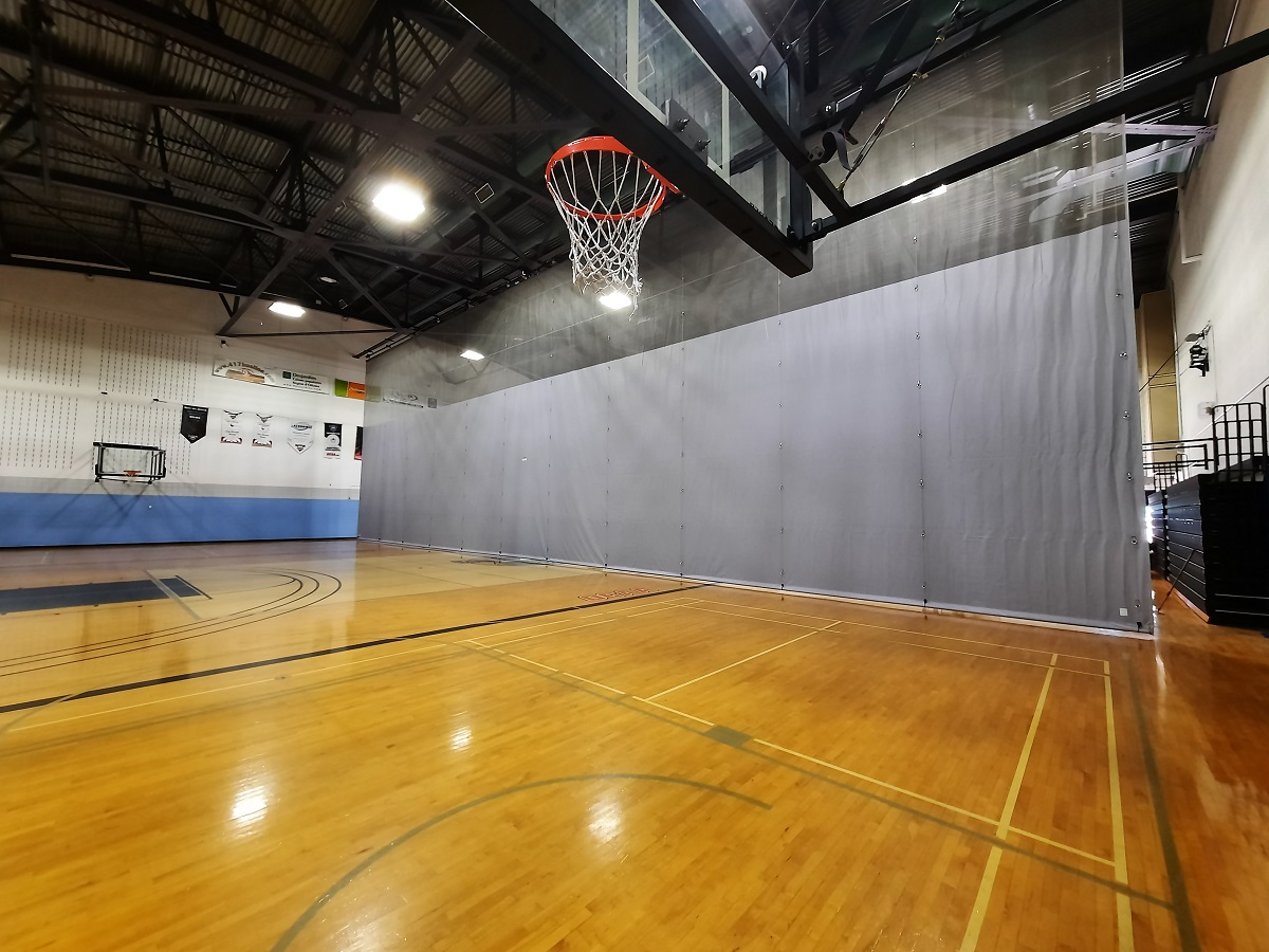 a gym divider curtain update for