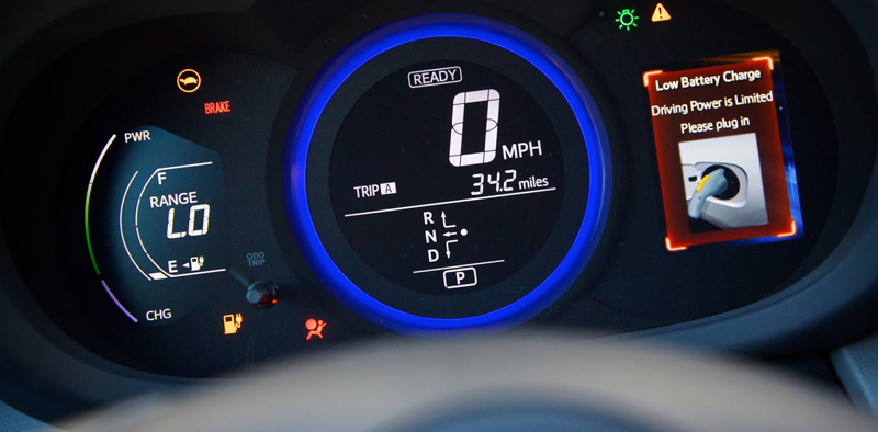 display of an electric vehicle