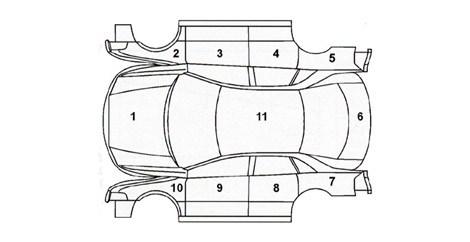 zewnętrzna strona auta