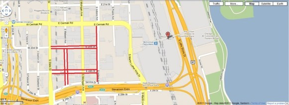 free mccormick place parking map