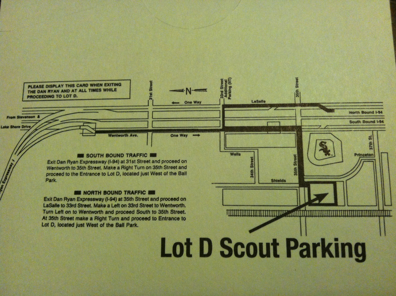 Chicago White Sox Parking Lot D Map - SpotHero Blog