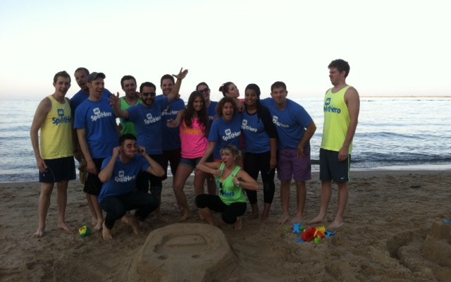 SpotHero Team at the Beach
