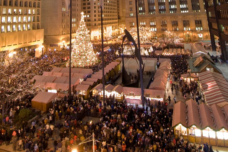 Christkindlmarket Chicago Crowd