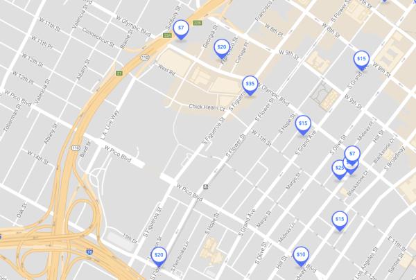 parking near pico station