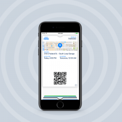 Add your parking pass to Apple Wallet