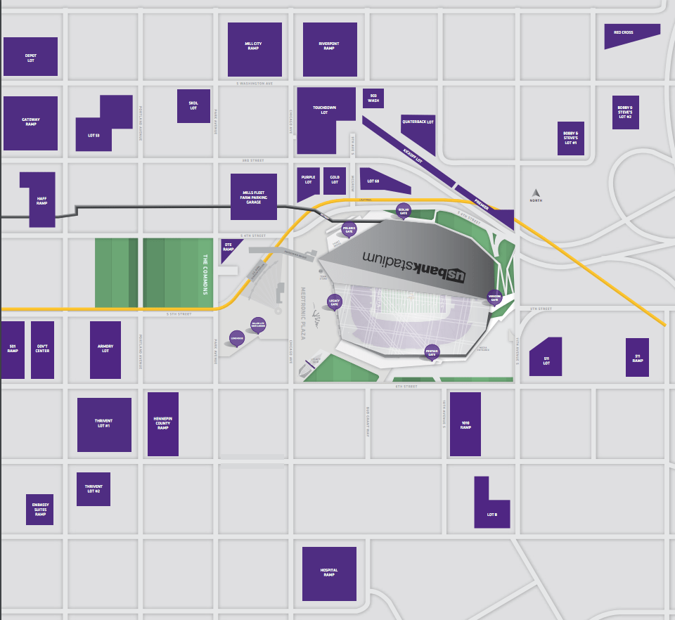 Us Bank Stadium Gate Map US Bank Stadium Parking: Your Guide to Vikings Parking