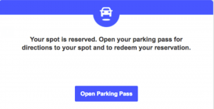 spothero monthly parking email confirmation