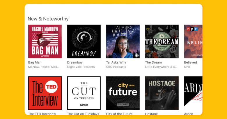 iTunes Store New and Noteworthy Section on desktop