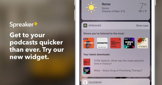 spreaker podcast radio app widget