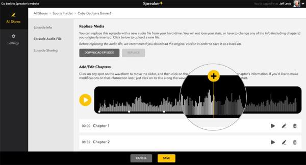 use chapters on your podcast
