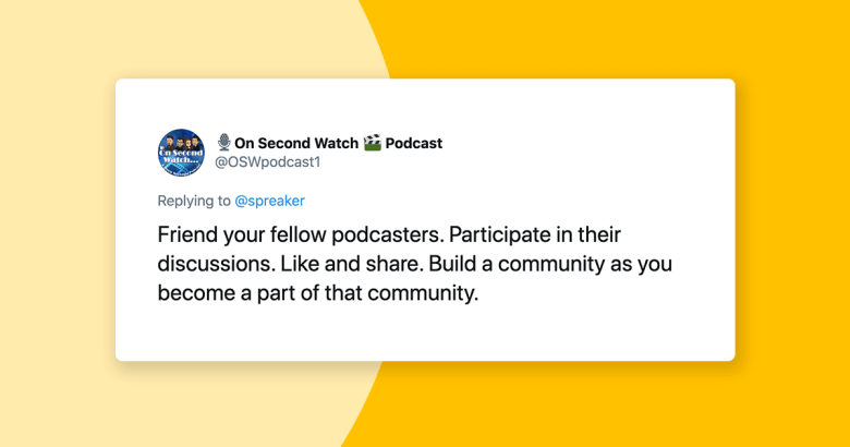 the important of being part of the podcast community