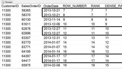 Sql paging using row_number() sql server function.