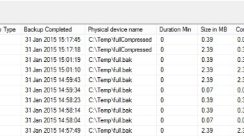 SQL SERVER - Get Database Backup History for a Single Database Backup_History