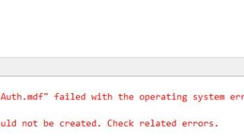 SQL SERVER - Fix Error - Package 'Microsoft SQL Management Studio Package' failed to load in SQL Server Management Studio CreateDB-01