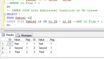 SQL SERVER - Introduction and Example of UNION and UNION ALL LeftJoinON1