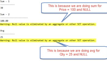 SQL SERVER - QUOTED_IDENTIFIER ON/OFF and ANSI_NULL ON/OFF Explanation ansi-warning-01