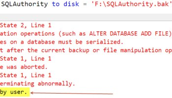 SQL SERVER - FIX: 3637 - A Parallel Operation Cannot be Started From a DAC Connection backup_stuck-02