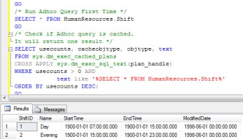SQL SERVER - Stored Procedure - Clean Cache and Clean Buffer cachetest0