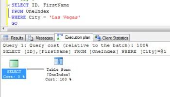 SQL SERVER - Difference Between Index Scan and Index Seek keylook1