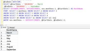 SQL SERVER - Find Business Days Between Dates monthsbetween