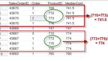 SQL SERVER - Introduction to CUME_DIST - Analytic Functions Introduced in SQL Server 2012 percentiledisc1