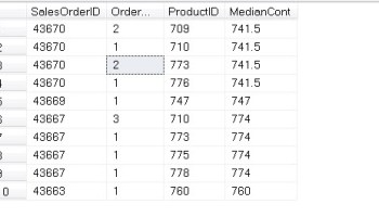 How to Find Median in SQL Server? - Interview Question of the Week #116 percentiledisc2