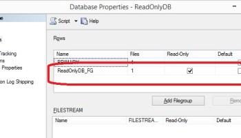 SQL SERVER - Making Table Read Only via FileGroup readonlydb-backup-01