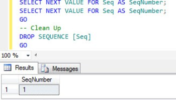 SQL SERVER - Denali - Introduction to SEQUENCE - Simple Example of SEQUENCE seq1