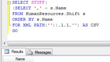 SQL SERVER - Comma Separated Values (CSV) from Table Column stuffsub