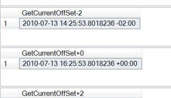 SQL SERVER - Datetime Function TODATETIMEOFFSET Example switchoffset