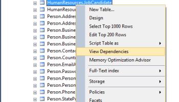 SQL SERVER - Remove Cached Login from SSMS Connect Dialog - SQL in Sixty Seconds #049 viewdepend