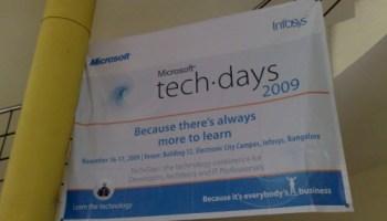 SQLAuthority News - TechDays Session at Infosys Mysore 2009 - Change Data Capture and PowerPivot infosys2