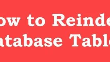 SQL SERVER - Stop Using DBCC DBREINDEX and Use ALTER INDEX reindexdb