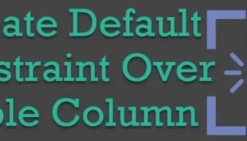 SQL SERVER - Add Column With Default Column Constraint to Table defaultconstraint