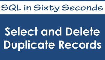 SQL SERVER - 2000 - SQL SERVER - Delete Duplicate Records - Rows - Readers Contribution 36