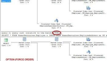 SQL SERVER - Effect of Order of Join In Query forceorder