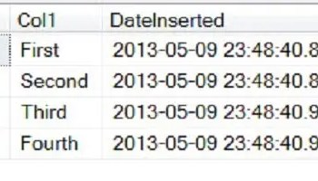 SQL SERVER - Retrieve Last Inserted Rows from Table - Question with No Answer DateInserted3