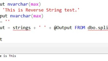 SQL SERVER - Check If String is a Palindrome in Using T-SQL Script - Reverse Function reverse-string-test