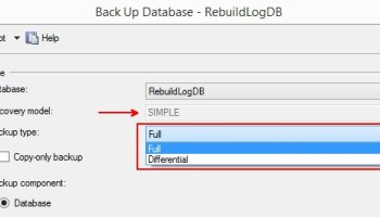 SQL SERVER - Backups are Non-negotiable Lifeline for DBAs rebuildlog-simple-recovery-01