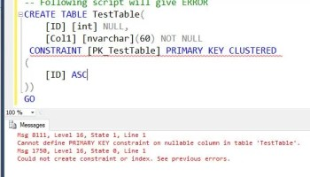 Primary Key and Null in SQL Server - Interview Question of the Week #071 errornull