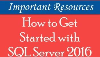 SQL SERVER 2016 - Learn Installation of SQL Server 2016 in 2 Minutes Video sqlserver2016-getstarted