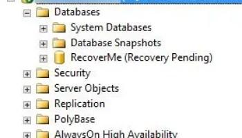SQL SERVER - Why SQL Server Service is Stuck in Starting / Change Pending State? rec-pending-01