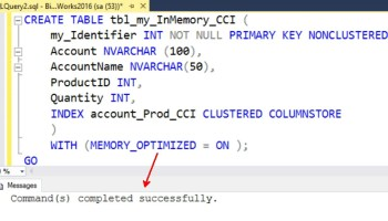 SQL SERVER - How to Find the In-Memory OLTP Tables Memory Usage on the Server inmemory-cci-01