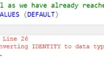 SQL SERVER - Fix: Error Msg 128 The name is not permitted in this context. Only constants, expressions, or variables allowed here. Column names are not permitted. ident-overflow-01