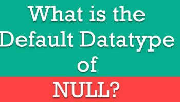 SQL SERVER - Puzzle - Brain Teaser - Changing Data Type is Changing the Default Value nulldatatype
