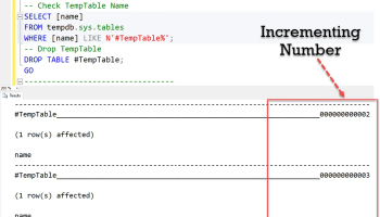 SQL SERVER - How to Create Table Variable and Temporary Table? tempnumbergen